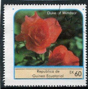 Equatorial Guinea 1976 ROSES DUKE OF WINDSOR 1 value Perforated Fine Used