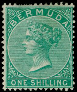 BERMUDA SG8, 1s green, LH MINT. Cat £350.