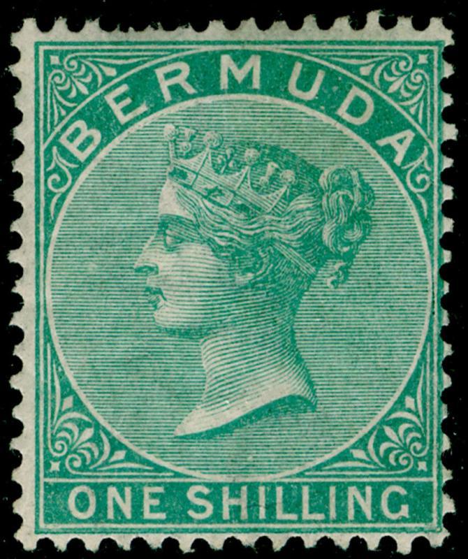 BERMUDA SG8, 1s green, LH MINT. Cat £350.