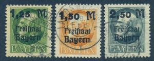 GERMAN STATES - BAVARIA SC# 231-3 F-VF U 1919