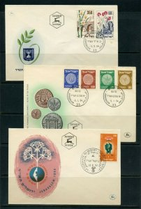 ISRAEL LOT Aiii  OF 24 DIFFERENT FIRST DAY COVERS AS SHOWN