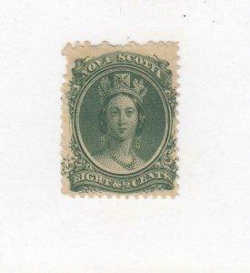 NOVA SCOTIA (MK4992) # 11  FVF-MH  8 1/2cts  QUEEN VICTORIA /GREEN CV $16