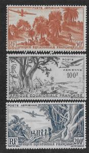 FRENCH EQUATORIAL AFRICA SC# C31-33  FVF/MOG    1946