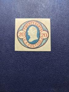 U.S. U43 XFNH cut square, CV $250