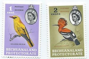 Bechuanaland Protectorate #180-181 Birds (MNH) CV $3.00