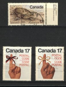 Can #813,815-16   -3  used VF 1979 PD