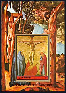 Ajman Michel Block 458B, MNH, Painting by Masaccio imperf. souvenir sheet