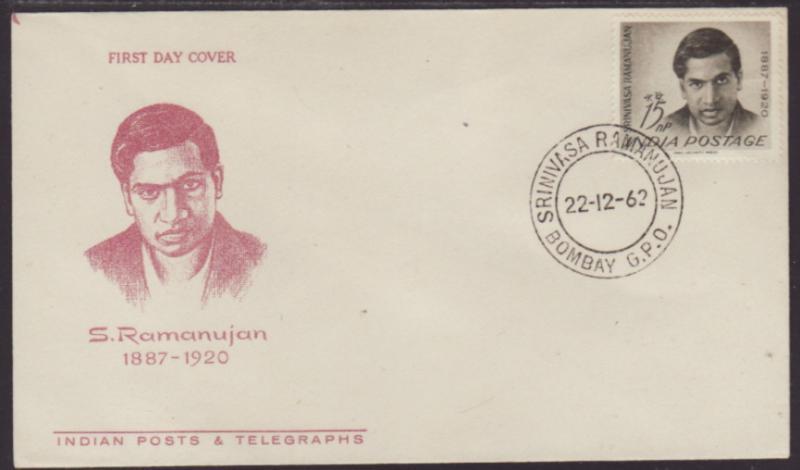 India 369 Ramanujan U/A FDC