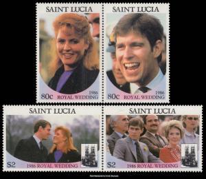Saint Lucia Scott 839-840 Mint never hinged.