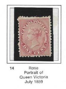 Canada 14 Unused Great Looking Stamp CV$425