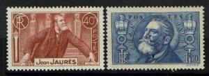 France SC# 313 and 314, Mint Hinged, Hinge Remnant - Lot 052317