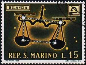 San Marino. 1970 15L S.G.883 Fine Used