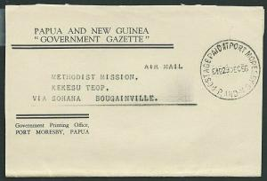 PAPUA NEW GUINEA 1956 wrapper 6½d POSTAGE PAID AT PORT MORESBY  cds........39356