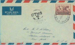 83265  -  AUSTRALIA  - Postal History -   COVER to USA - Taxed !!  1940's
