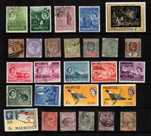 Mauritius  27  different  mint hinged and used