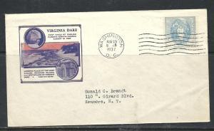 US #796-7 Dare cachet addressed DC cancel