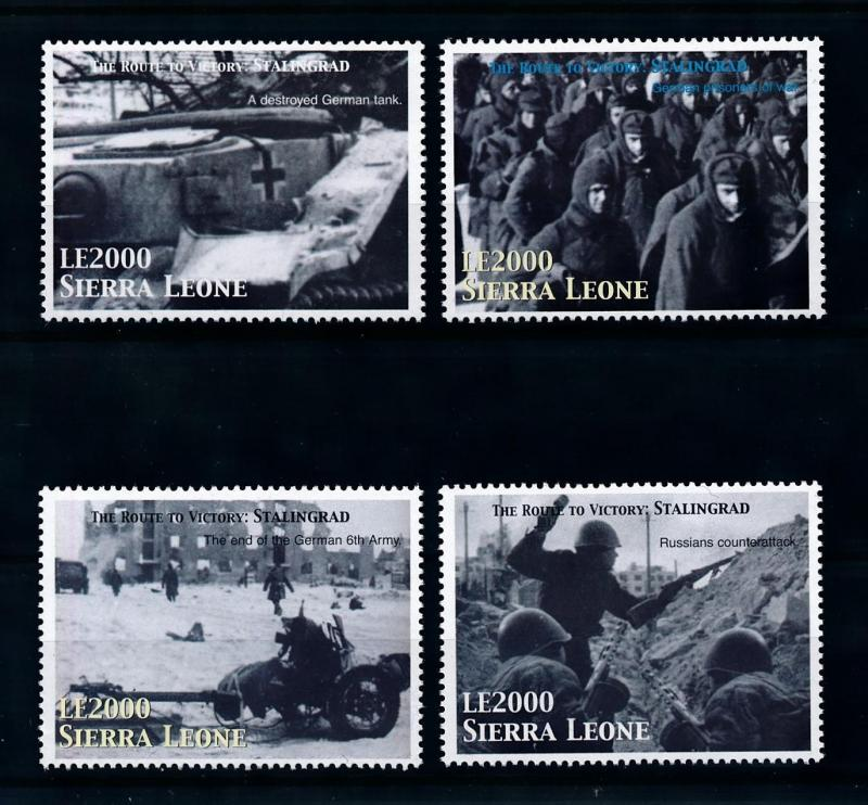 [76569] Sierra Leone 2005 World War II Battle of Stalingrad  MNH