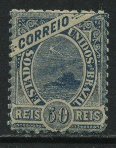 Brazil 1889 50 reis blue mint o.g. hinged