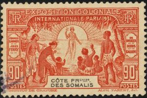 French Somali Coast 90c Paris Colonial Exposition VFU