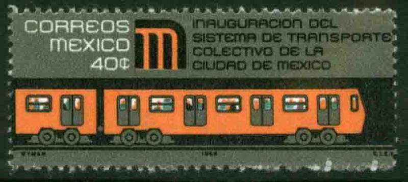 MEXICO 1005, Inauguration of Mexico City Subway. MINT, NH. VF.