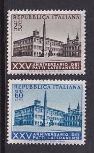 Italy    #647-648    MNH   1964   Lateran Palace