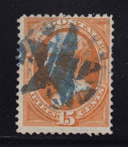163 VF used neat blue star cancel with nice color cv $ 190 ! see pic !