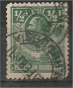 NORTHERN RHODESIA, 1925, used 1/2p, King George V Scott 1