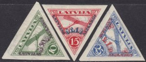 1931 Latvia/Latvija,Pa N°10/12 Mlh /Nondentellati/Imperforated