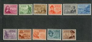 Norway Sc#279-289 M/NH/VF, Complete Set, Cv. $47.05