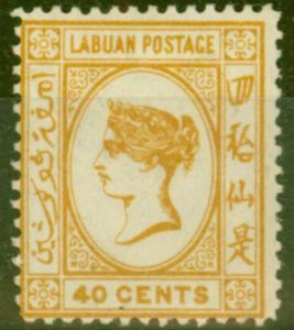 Labuan 1894 40c Orange-Buff SG57 Fine Mtd Mint