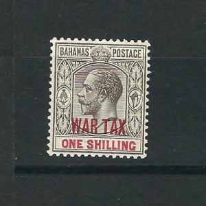 Bahamas MR8 SG 99 1sh Gray Blk & Carmine WAR TAX MLH VF 1918 SCV $14.00