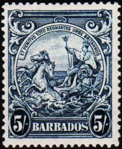 Barbados. 1938 5s6 S.G.256a Mounted Mint