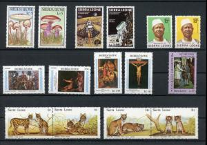 Sierra Leone 48 Different Mint NH Collection SCV $70+ offered at 85% discount !!