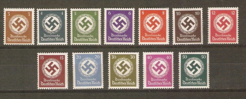 Germany 1942 official stamps cpl MNH
