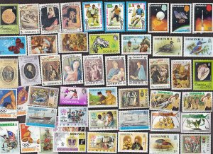 50 All Different DOMINICA Stamps