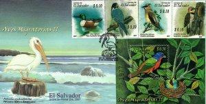 EL SALVADOR BIRDS Sc 1675-1676 FDC 2007