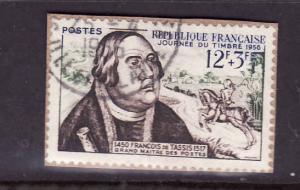 France-Sc#B302-used semi-postal -1956-Francois of Taxis-
