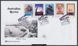 03-Nov-2008 Australian Films Peel and Stick Wesley First Day Cover