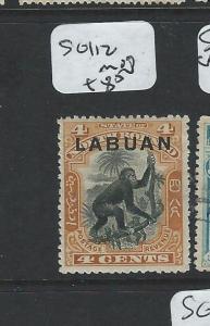 LABUAN  (P2201B) 4C MONKEY  SG 112  MOG