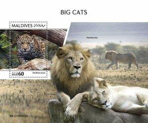 Stamps MALDIVES / 2020 - Big cats. Book.