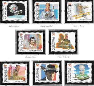 Micronesia #210a-h  32c Pioneers of Flight & Aviation (MNH) CV$5.25