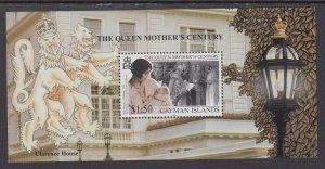 Cayman Islands 786 Queen Mother Souvenir Sheet MNH VF