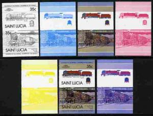 St Lucia 1983 Locomotives #1 (Leaders of the World) 35c D...