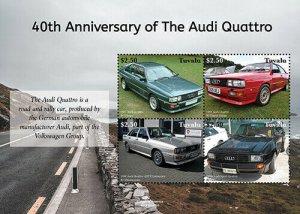 2020/12- TUVALU - AUDI QUATTRO   4V  complet set    MNH ** T