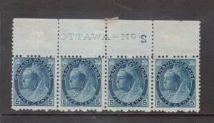 Canada #79 Mint Plate 2 Reversed Strip Of Four