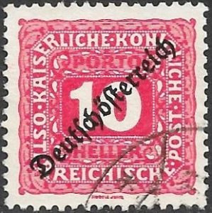 Austria Postage Due Scott # J65 Used. Free Shipping for All Additional Items.