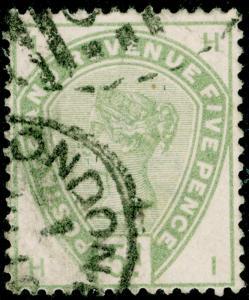 SG193, 5d dull green, USED. Cat £200. HI