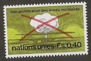 United Nations 23 Geneva Non-Proliferation Nuclear Weapons single MNH 1972