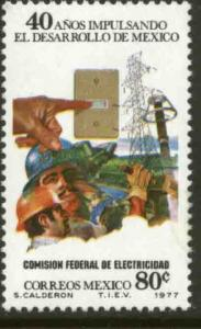 MEXICO 1155, 80¢ 40th Anniv Nationalization Electrical Industry. MINT, NH. VF.