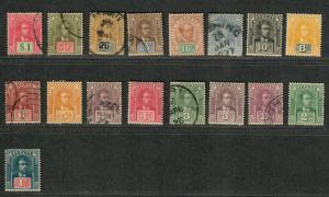 Sarawak Sc#50-70 M+U/H/F-VF, Partial Set, Cv. $157.85
